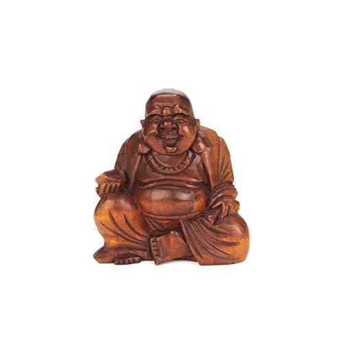 Orient Express - Figura decorativa de Buda sentado (madera), varios tamaños, producto hecho a