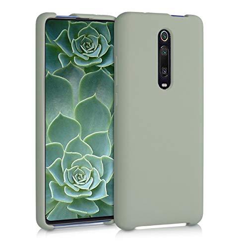 kwmobile Cover compatibile con Xiaomi Mi 9T (Pro) / Redmi K20 (Pro) - Custodia in silicone TPU - Back Case protezione cellulare verde grigio