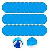 Parche de reparación de vinilo redondo autoadhesivo de PVC, 30 piezas de vinilo revestimiento de piscina, parche de vinilo para reparación de barcos, gomas de vinilo para juguetes inflables