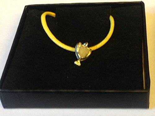 Trofeo deportivo GT9 de peltre inglés en un cordón amarillo de 45,72 cm Envío por los regalos de EE. UU. para todo 2016 de Derbyshire UK