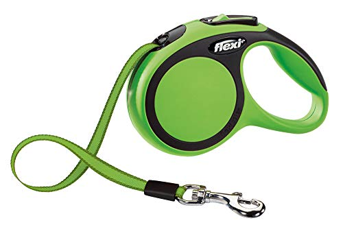 TRIXIE flexi New COMFORT, Correa Extensible, Cinta enrollable, XS: 3 m, Verde, Perro