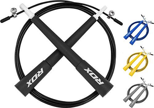 RDX Springseil MMA Boxing Einstellbar Sprung Trainingsgeschwindigkeit Verlieren Gymnastik Gewicht Gymnastik Fitness Springseil Metall Training (MEHRWEG)