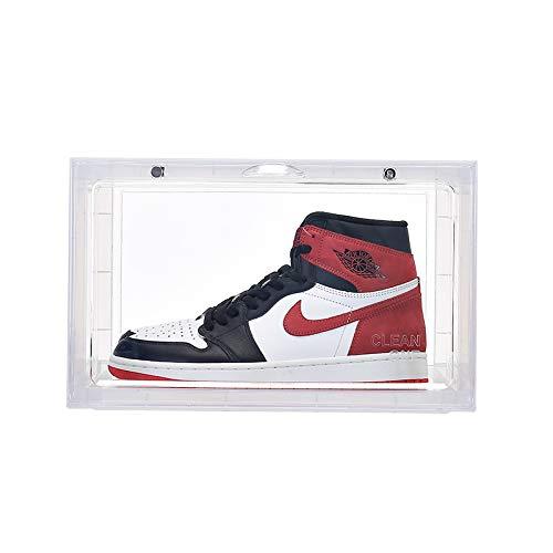 TOLLK LESSE Caja de Zapatos de Baloncesto magnética para el hogar Caja de Zapatos de Almacenamiento Transparente de plástico acrílico a Prueba de Humedad y Polvo Caja de Zapatos de exhibición