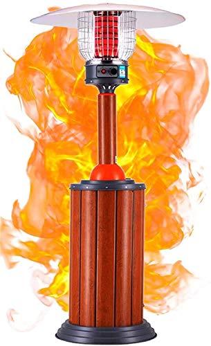 BGH Neue Außenterrasse Gasheizung 10Kw Terrasse Heizung Gasgrill Heizstrahler mit höhenverstellbarem Geeignet for den Innenbereich An