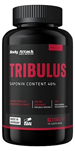 Body Attack Tribulus Terrestris 2400, 150 Kapseln, 1er Pack (1x 205g), Dose