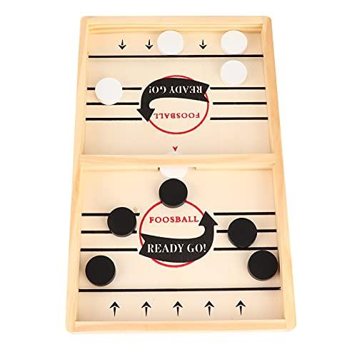 HEEPDD Slingshot Game Toy, Juego de ajedrez de Hockey de Madera Divertido Juego de Mesa de Escritorio para niños Mayores de 3 años(S)
