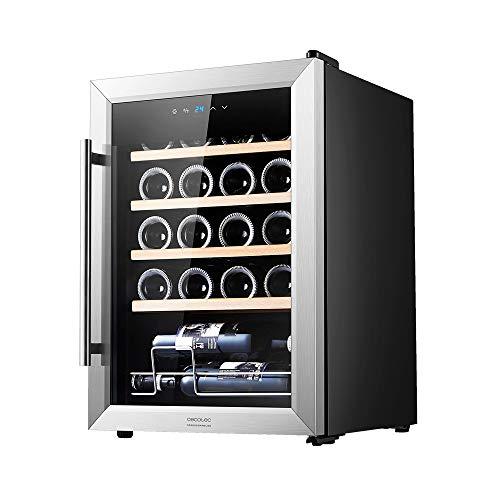 Cecotec Vinoteca GrandSommelier 20000 INOX Compressor. 20 Botellas, Compresor, Alto Rendimiento garantizado, Temperatura Regulable, Clase de eficiencia energética A