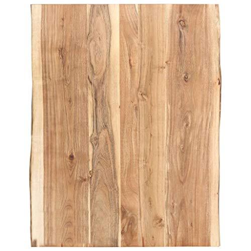 vidaXL Massivholz Tischplatte Baumkante Massivholzplatte Akazie 80x60x3,8 cm