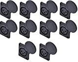 Yongle YLK3FDC 10-Pack Professional XLR electrombile Recharge Stand Connector 3P Socket