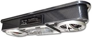 Madjax Golf Cart Universal Overhead Stereo Console - Carbon Fiber