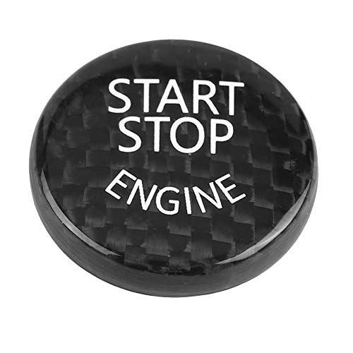 Duokon Couvercle du Bouton D'arrêt de Démarrage de voiture,Couvercle de Décoration de Bouton de Démarrage de Moteur en fibre de carbone pour châssis F 2018 G,Noir