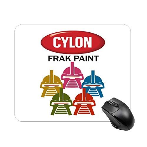 Battlestar Galactica Cylon Frak Paint Alfombrilla de mesa antideslizante de alta velocidad para juegos, Alfombrilla de ratón cuadrada para oficina con base de goma, Alfombrilla de escritorio pequeña p