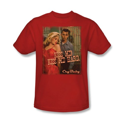 Cry Baby - Männer Kiss Me T-Shirt In Red, XX-Large, Red