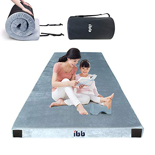 ibigbean Portable Sleeping Pad Memory Foam Camping Mattress for Camping Sleeping Pad,Guest Bed Lightweight, Outdoor Cot Pad Foam Portable Bed,Cover Removable Come with Knee Pillow(75x38x2.76in)