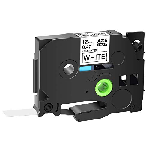 """GREENCYCLE 1 Pack Compatible for Brother TZe-231 TZe231 TZ231 TZ-231 AZE Tape 12mm 0.47 Inch 1/2"""" Black on White Laminated Label Tape for Ptouch PTD210 PT-H100 PTH110 PT-D400AD PTD600 PT-1290"""