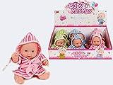 Babypuppe mit Badeanzug 20cm 3-fach sortiert (1Stück)