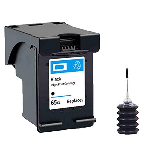RICR Cartuchos De Tinta Remanufactured 65xl, Compatible con Reemplazo De Tinta Utilizados para HP DeskJet 2655 3720 3721 3722 Envy 5020 Amp 100 Models Impresora BK+Ink