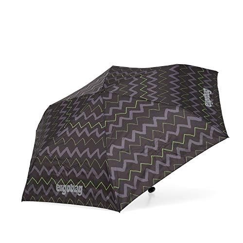 ergobag Regenschirm - Schultaschenschirm für Kinder, extra leicht mit Tasche, Ø90cm - Drunter und DrüBär - Black