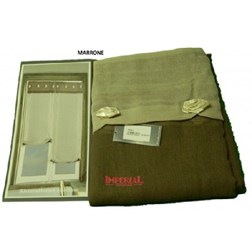 Riviera Collection Home Concept Coppia Tendine Vetro Funny 60X230 Marrone