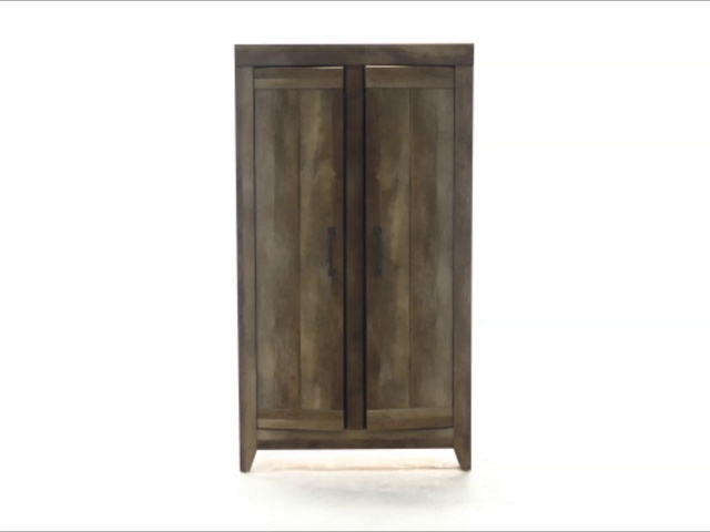 Sauder Adept Storage Wide Storage Cabinet, Craftsman Oak finish