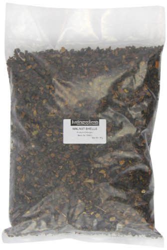 JustIngredients Walnussschalen, Walnut Shells, 1er Pack (1 x 1 kg)