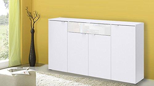Möbel Akut Sideboard 4-türig Compleo Mehrzweckschrank in weiß von CS Schmal