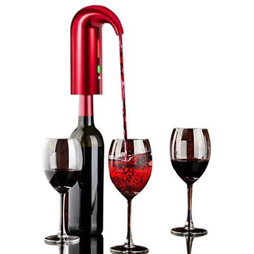 1-1 elektrische rodewijnbeluchter met instant wijndecanter, multi smart automatische one-touch automatische USB-oplaadbaar voor rode en witte wijn.