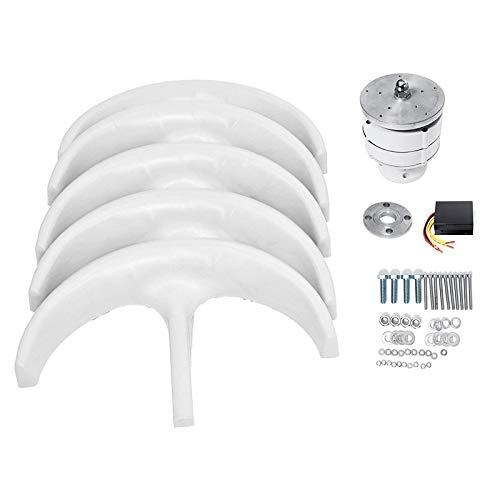 SISHUINIANHUA 6000w/5000w/5500w/12V 24V Vertical Axis Wind Turbine Generator Lantern 5 Blades Motor Kit Electromagnetic for Home Streetlight,5000w,12v
