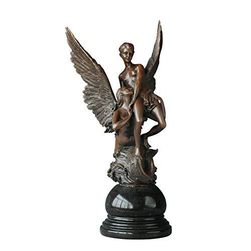 CIDCIJN Statue,Skulpturen,Statuen,Statuette,Engel Paar Bronze Statue Romantische Liebe Nackt Skulptur Antike Figur Kunst Jahrestag Geschenke Home Decor