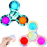 LONEA 2PCS Simple Dimple Fidget Spinner Toys,Push Bubble Sensory Toys for...