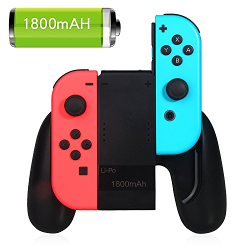 Joy-Con agarre de carga para Nintendo Switch, 1800mAh Power Bank Nintendo Switch agarre de carga con cable de carga de 3.28ft