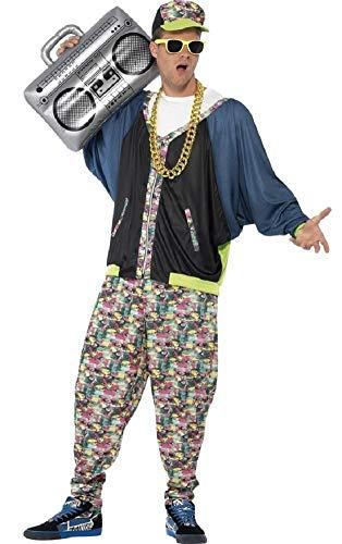 Herren 1980's 80's Hip Hop Rapper Mc Hammer Vanilla Ice Fresh Prince Jahrzehnte Party Kostüm Kleid Outfit