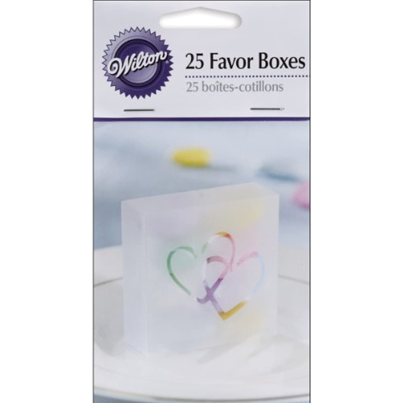 Wilton 10064472 Two Hearts Acetate Box, 25-Pack, Clear
