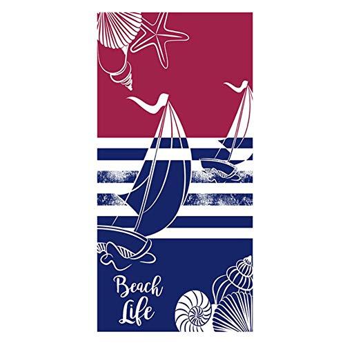 Feiyue 70X150Cm Toalla de Playa de Microfibra de impresión Gran Gimnasio Toalla de Piscina Deportiva Mujeres Estera de Yoga Grande Moda Verano Manta de túnica de Surf, O, 70X150Cm