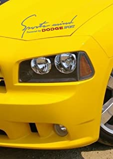 DECALS USA Dodge Sports Mind Racing Decal Sticker Emblem Ram Durango Neon Charger Challenger Silver