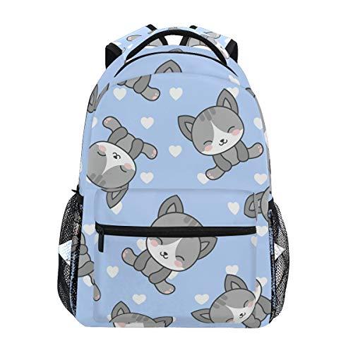 Orediy - Zaino da scuola con gattini, stile casual, da viaggio, per studenti, per ragazze e ragazzi
