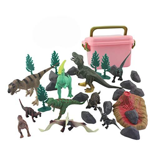 STOBOK 1 Set Kids Dinosaur Figur Leksaker Realistiska Plast Dinosaur Playset Djur Figurer Party Favor Bag Filler Stocking Stuffere