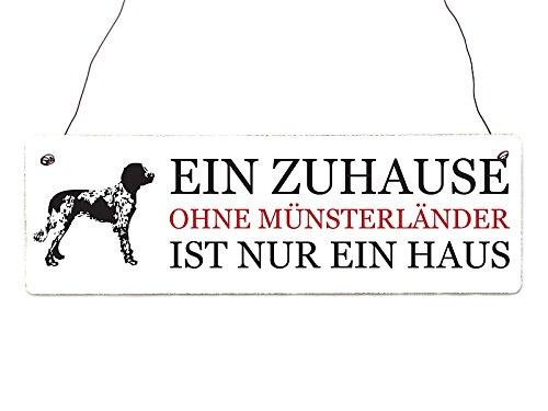 Interluxe Shabby Vintage Schild Türschild EIN ZUHAUSE OHNE MÜNSTERLÄNDER H& Geschenk