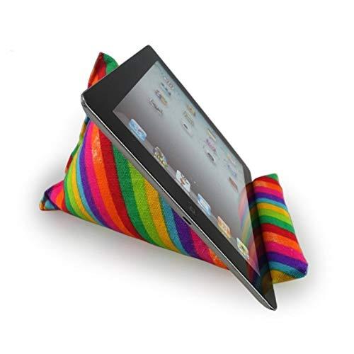 Tablet Halterung Tablet Ständer Tablet Halter Kissen, Sofa, Lesehalterung, Handykissen Leinwand Regenbogenmuster