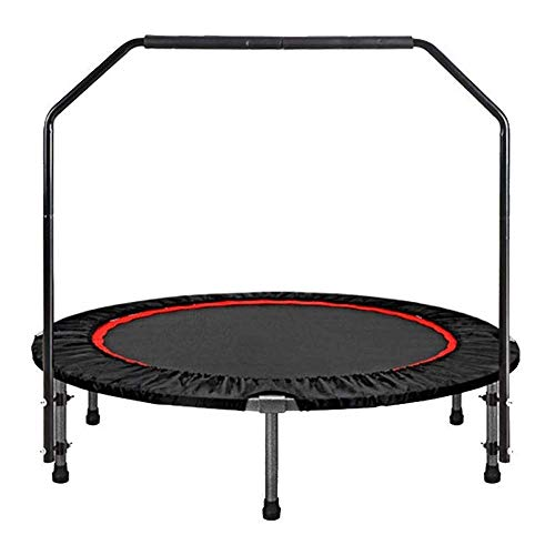 Home Exercise Equipment 40' Fitness Trampoline with Handrail Portable Silent Bounce Cardio Workout Trainer–Fun for Adults &(Rebounder Trampoline) Fitness