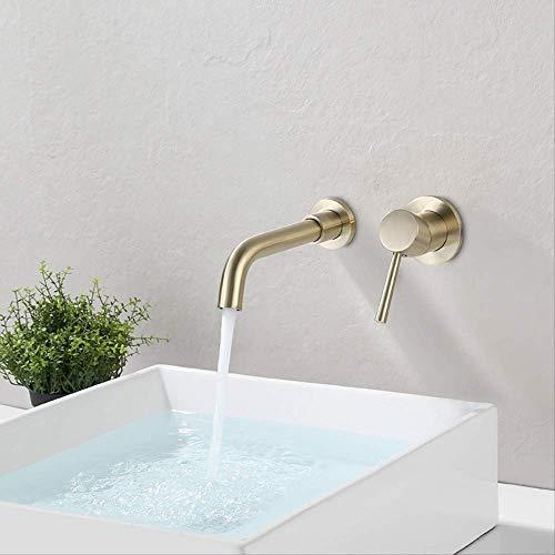 Quartett antik gebürstet M927 gebürstet,Waschtischarmatur,Wasserhahn Bad,heißes und kaltes Wasser vorhanden, Waschbecken Wasserhahn