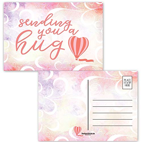Sending You Hugs Postcards - Thinking of You - 4' x 6' Friendship Postcards - Made In USA (Hugs)