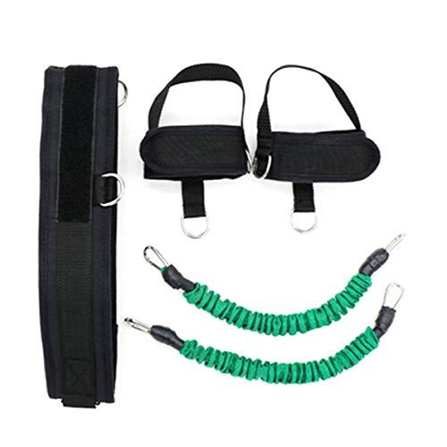 YUIO Basketball Spring Krafttrainingsgerät Bein Muskelkraft Puller Sprungseil Seil Latex Fitnessgeräte (grün)