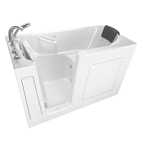 "American Standard 3060.109.CLW Gelcoat Whirlpool and Air Spa 30""x60"" Left Side Door Walk-In Bathtub in White"