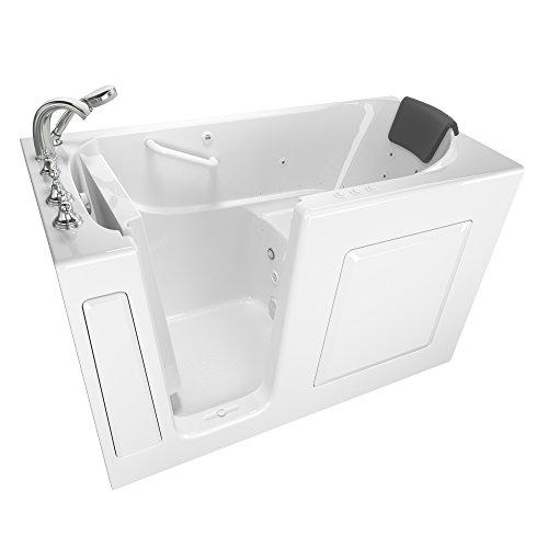 American Standard 3060.109.CLW Gelcoat Whirlpool and Air Spa 30'x60' Left Side Door Walk-In Bathtub in White