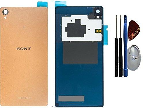 Originele batterijdeksel backcover NFC-antenne voor Sony Xperia Z3 D6603, D6653 koper bruin + SPES® plakfolie (afdichting) / gereedschap set/reparatiehandleiding