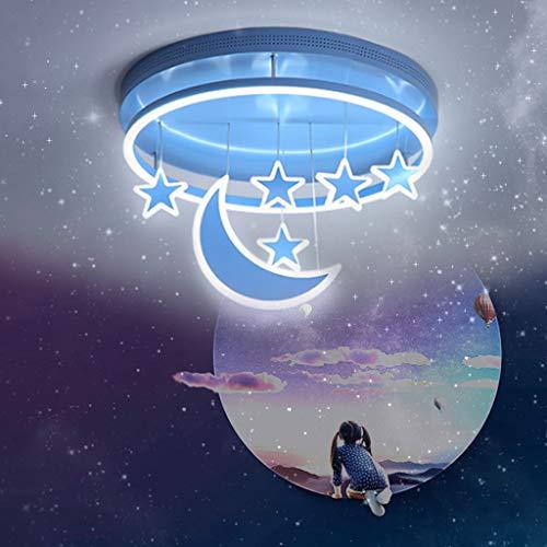 LED Deckenleuchte Kinderzimmerlampe Dimmbar Deckenlampe Mond Und Sterne Pendelleuchte Mädchen Junge...