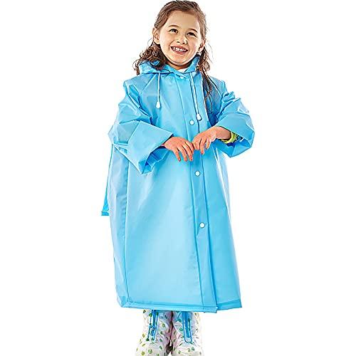 Poncho impermeable de EVA para niños con cubierta para la cabeza y mangas, con asiento para mochila, adecuado para campamentos y caminatas al aire libre para niños,4,XL