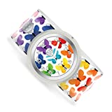 Watchitude Slap Watch, Butterfly - One Size, Boys and Girls, Plunge Proof, Removable Analog Face, Colorful and Inspiring, Interchangeable Silicone Bands, Fun and Inspiring Bracelet Watches