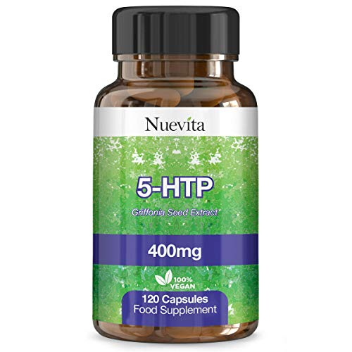 5HTP 400mg Griffonia Seed Extract – 120 Vegan Capsules – High Strength 5-HTP - 400mg 5 HTP from 50mg of 8:1 Griffonia Seed Extract